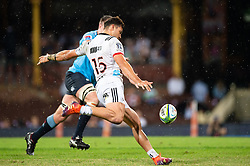 March 23, 2019 - Sydney, NSW, U.S. - SYDNEY, NSW - MARCH 23: Crusaders player David Havili (15) kicks the ball at round 6 of Super Rugby between NSW Waratahs and Crusaders on March 23, 2019 at The Sydney Cricket Ground, NSW. (Photo by Speed Media/Icon Sportswire) (Credit Image: © Speed Media/Icon SMI via ZUMA Press)