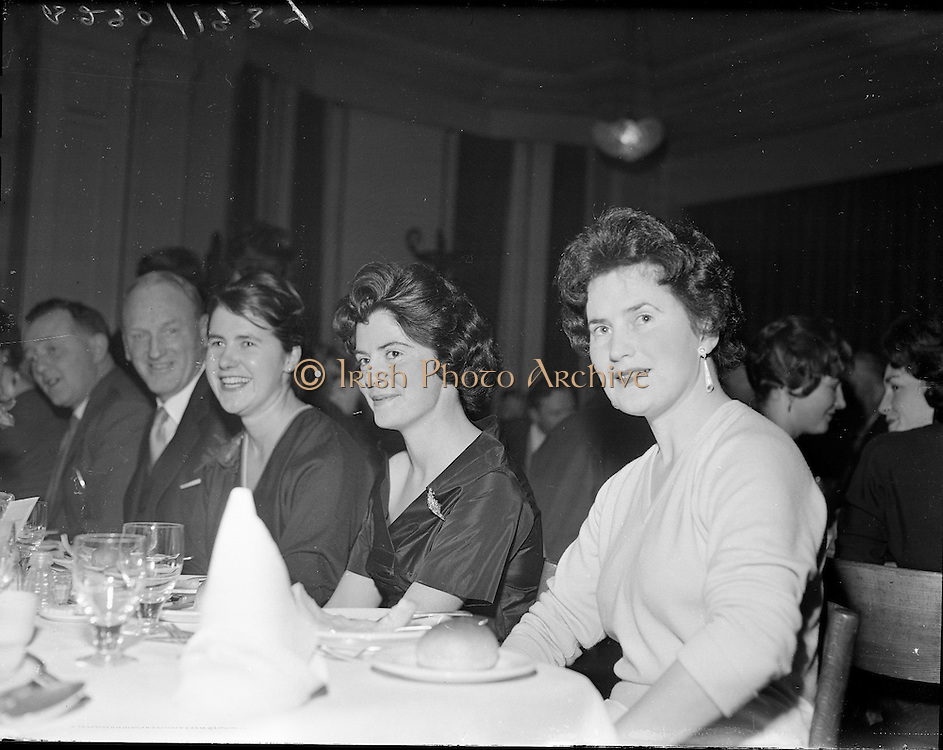 "Kerryman's Association Annual Dinner..1960..30.01.1960..01.30.1960..30th January 1960..The annual dinner of the Kerryman's Association held its annual dinner in the Dolphin Hotel, Dublin...Pictured at the dinner were from left, Ms Mary Scanlon, Ballymacelligott, Ms Mary Cullotin, Killarney and Ms Maureen O""Donnell, Inch."