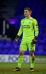 BIRKENHEAD, ENGLAND - Tuesday, December 19, 2017: PSV Eindhoven's goalkeeper Mike Van De Meulenhof during the Under-23 FA Premier League International Cup Group A match between Liverpool and PSV Eindhoven at Prenton Park. (Pic by David Rawcliffe/Propaganda)
