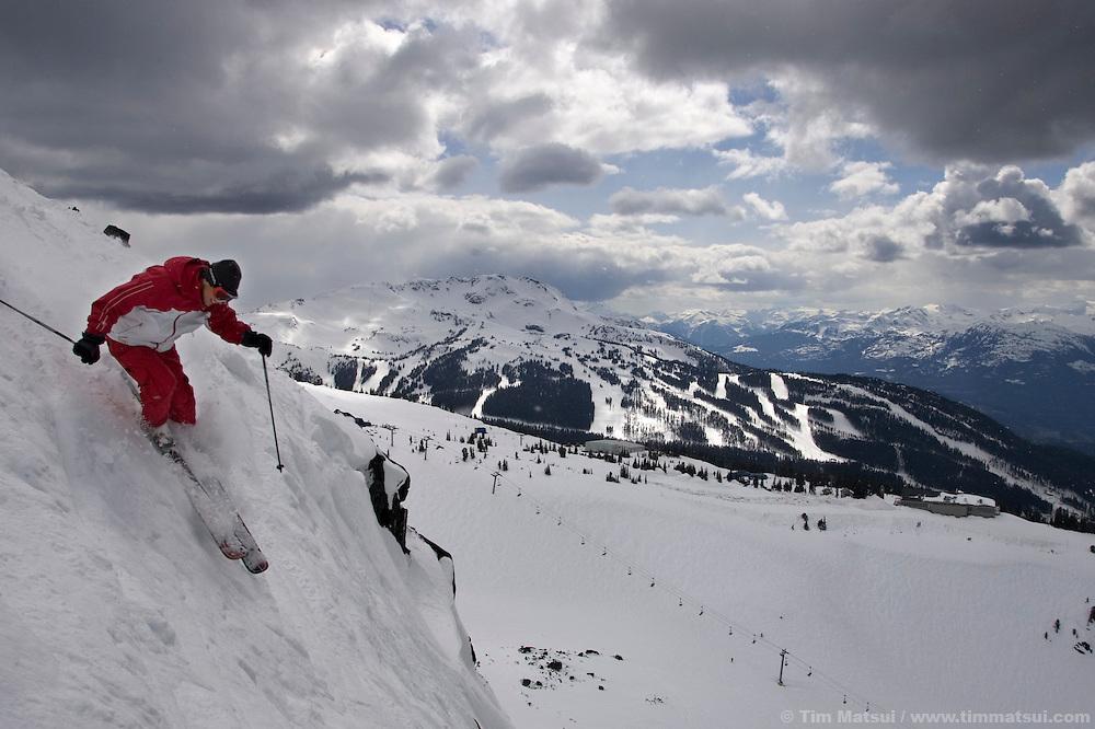 Athlete and businessman Dana Williams at Whistler-Blackcomb ski resort in British Columbia, Canada.