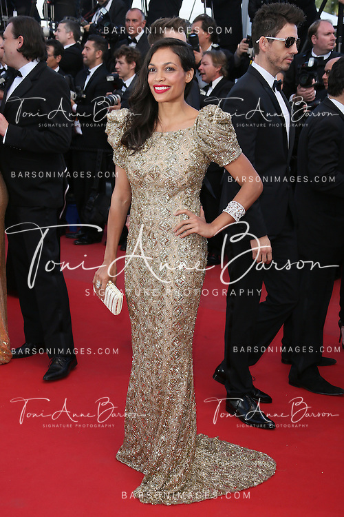 CANNES, FRANCE - MAY 21:  Rosario Dawson attends 'Behind The Candelabra' Premiere during The 66th Annual Cannes Film Festival on May 21, 2013 in Cannes, France.  (Photo by Tony Barson/FilmMagic)