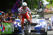 Julian Alaphilippe (FRA - QuickStep - Floors) during the 105th Edition of Tour de France 2018, cycling race stage 20, time trial, Saint Pee sur Nivelle - Espelette (31 km) on July 28, 2018 in Espelette, France - Photo Kei Tsuji / BettiniPhoto / ProSportsImages / DPPI