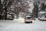 Middletown, NY - Snow falls during a winter storm on Dec. 19, 2008.
