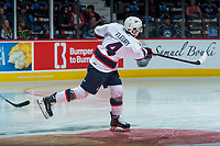 REGINA, SK - MAY 23: Cale Fleury #4 of the Regina Pats warms up with a shot on net against the Swift Current Broncos at the Brandt Centre on May 23, 2018 in Regina, Canada. (Photo by Marissa Baecker/CHL Images)