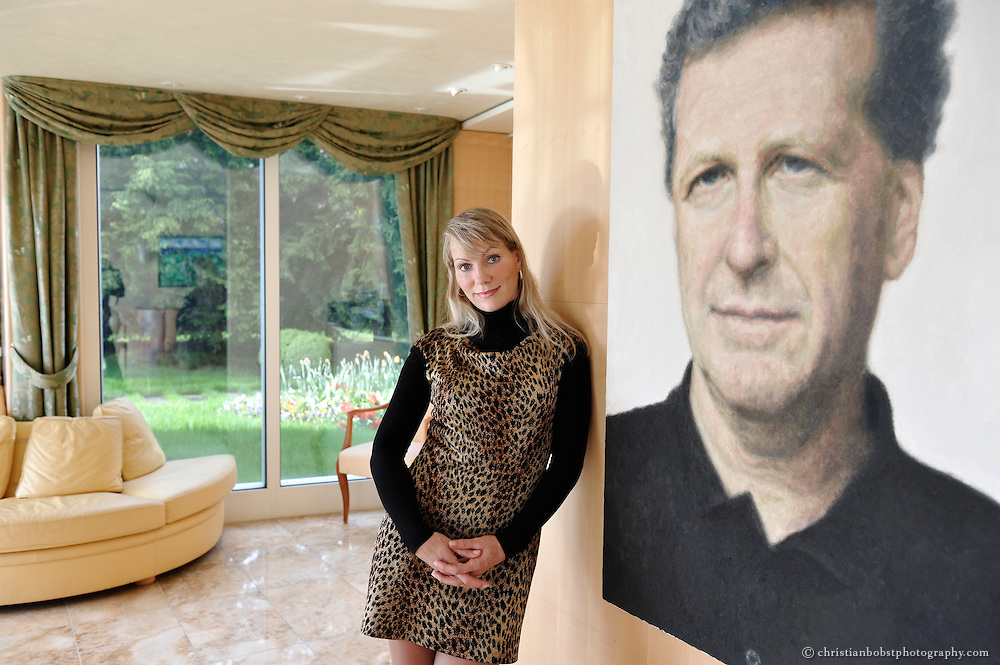 Dreyfus, widow of Robert- Louis Dreyfus, takes a pose during an interview for L'Express at her home in Zollikon, Canton of Zurich, Switzerland on Monday, Mai 10th, 2010.<br />