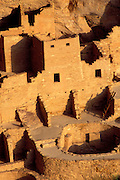 Evening light on Cliff Palace Ruin, Mesa Verde National Park (World Heritage Site), Colorado USA