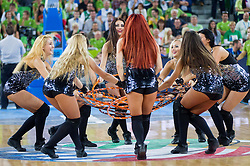 Klaipeda cheerleaders perform during basketball match between National teams of Slovenia and France in Quarterfinals at Day 15 of Eurobasket 2013 on September 18, 2013 in Arena Stozice, Ljubljana, Slovenia. (Photo by Vid Ponikvar / Sportida.com)