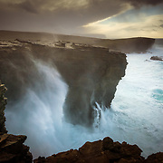 One from a couple of days up in Orkney in the run up to Christmas 2016. I was on an assignment for the Economist's 1843 Magazine, dispatched to capture some of the essence of the Isles during the short time I had to scoot around. I shot this flat on my stomach, sheltered by an overhang of rock, while powerful winds rushed landward off the Atlantic. This was the begginnings of storm 'Barbara' and luckily I just made it off the Island befor the weather had cancelled all sailings over the festive period.