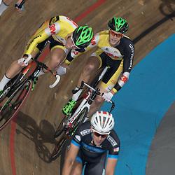 28-12-2014: Wielrennen: NK Baanwielrennen: Apeldoorn Didier Kaspers en Melvin van Zijl