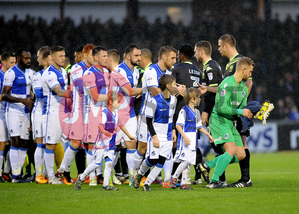 Back in the first team, Will Puddy (L) - Mandatory by-line: Neil Brookman/JMP - 10/12/2016 - FOOTBALL - Memorial Stadium - Bristol, England - Bristol Rovers v Bury - Sky Bet League One