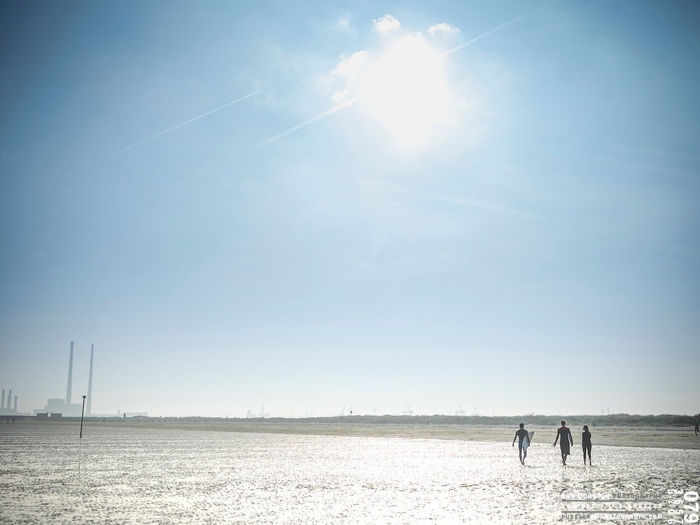 Stand up paddle boarders at the Dollymount Beach in Dublin
