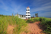 Lighthouse and Cedra Dunes<br /> West Cape<br /> Prince Edward Island <br /> Canada