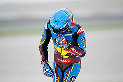 November 17, 2019, Cheste, VALENCIA, SPAIN: Alex Marquez, rider of EG 0,0 Marc VDS from Spain, celebrates the World Champion Title during the Moto2 Race of the Valencia Grand Prix of MotoGP World Championship celebrated at Circuit Ricardo Tormo on November 16, 2019, in Cheste, Spain. (Credit Image: © AFP7 via ZUMA Wire)