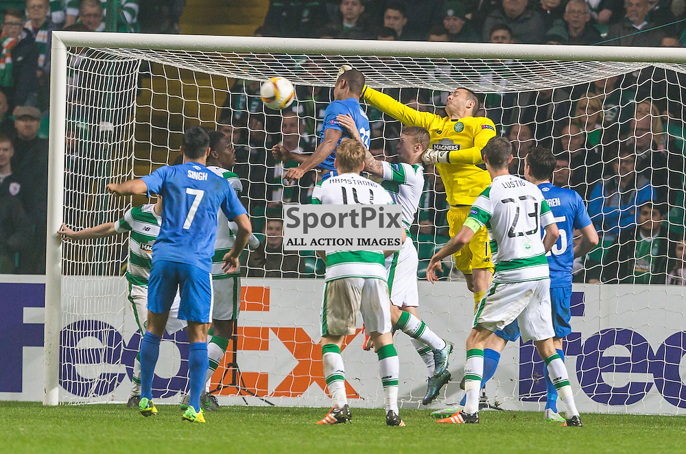 Ola Kamara goes close with a header during the UEFA Europa League group stage match between Celtic and Molde FK (c) ROSS EAGLESHAM | Sportpix.co.uk