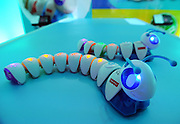 The Think & Learn Code-a-Pillar by Fisher-Price is shown at the New York Toy Fair, Friday, Feb. 12, 2016.  More than just a caterpillar, the Code-a-Pillar helps pre-schoolers develop coding, sequencing and critical thinking skills.  (Photo by Diane Bondareff/AP Images for Mattel)