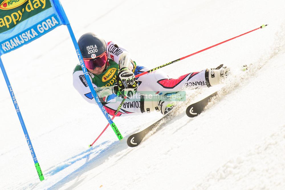 March 9, 2019 - Kranjska Gora, Kranjska Gora, Slovenia - Mathieu Faivre of France in action during Audi FIS Ski World Cup Vitranc on March 8, 2019 in Kranjska Gora, Slovenia. (Credit Image: © Rok Rakun/Pacific Press via ZUMA Wire)