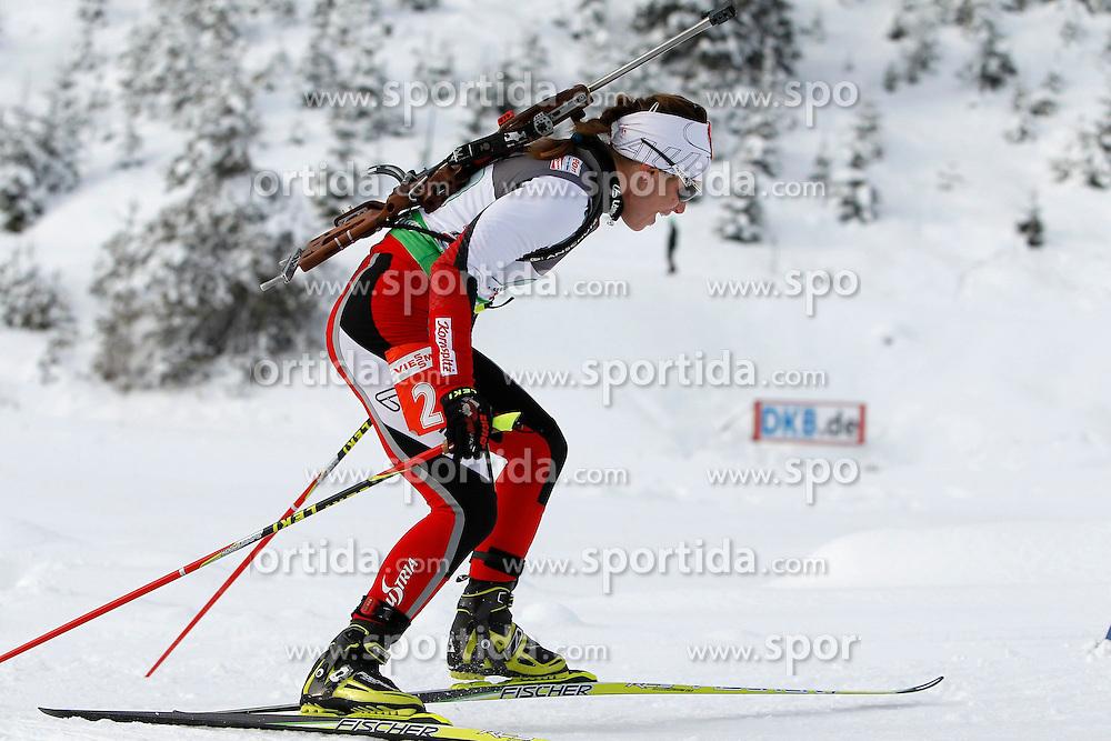 18.12.2011, Biathlonzentrum, Hochfilzen, AUT, E.ON IBU Weltcup, 3. Biathlon, Hochfilzen, Mix Staffel, im Bild Iris Waldhuber (AUT) // during Mixed Relay E.ON IBU World Cup 3th Biathlon, Hochfilzen, Austria on 2011/12/18. EXPA Pictures © 2011, PhotoCredit: EXPA/ Oskar Hoeher