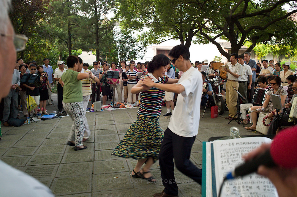 Singers, dancers and musicians in Lu Xun Park, Shanghai, China.