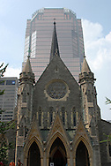 The Christ Church Cathedral, built in 1858, sits among the skyscrapers of downtown Montreal, Canada. (Photo by Phelan M. Ebenhack)