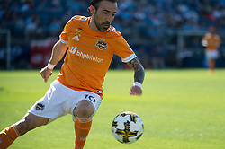 September 23, 2017 - East Hartford, Connecticut, U.S - Houston Dynamo forward VICENTE SANCHEZ (10) during a game at Pratt & Whitney Stadium at Rentschler Field, East Hartford, CT.  New York City FC draw with the Houston Dynamo 1 to 1 (Credit Image: © Mark Smith via ZUMA Wire)