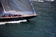Velsheda sailing in the J Class Regatta in Newport, Rhode Island.