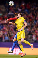 Atletico de Madrid's player Fernando Torres and CF Rostov's player during a match of UEFA Champions League at Vicente Calderon Stadium in Madrid. November 01, Spain. 2016. (ALTERPHOTOS/BorjaB.Hojas)
