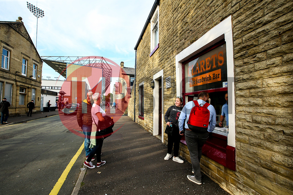 Clarets Sandwich Bar next to Turf Moor - Mandatory by-line: Robbie Stephenson/JMP - 30/08/2018 - FOOTBALL - Turf Moor - Burnley, England - Burnley v Olympiakos - UEFA Europa League Play-offs second leg