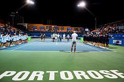 Trophy ceremony after the Final match of ATP Challenger Zavarovalnica Sava Slovenia Open 2017, on August 12, 2017 in Sports centre, Portoroz/Portorose, Slovenia. Photo by Vid Ponikvar / Sportida