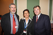 Tarsicio Mora Godoy, President CUT; Bertha Rey Castelblanco, FECODE; , Ed Balls MP, at the TUC Conference 2008....© Martin Jenkinson, tel 0114 258 6808 mobile 07831 189363 email martin@pressphotos.co.uk. Copyright Designs & Patents Act 1988, moral rights asserted credit required. No part of this photo to be stored, reproduced, manipulated or transmitted to third parties by any means without prior written permission