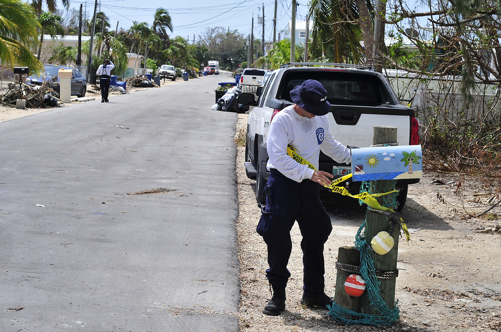 Pennsylvania Urban Search and Rescue team members search multiple residential neighborhoods on Saturday, Sept. 16, 2017 in Key Largo, Florida. Members of the Urban Search & Rescue teams are operating in the Florida Keys in response to Hurricane Irma. Photo By | CHRIS POST FEMA PA TF-1