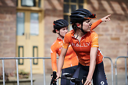 Sara Poidevin (CAN) does a bit of bird spotting before Stage 3 of 2020 Santos Women's Tour Down Under, a 109.1 km road race from Nairne to Stirling, Australia on January 18, 2020. Photo by Sean Robinson/velofocus.com
