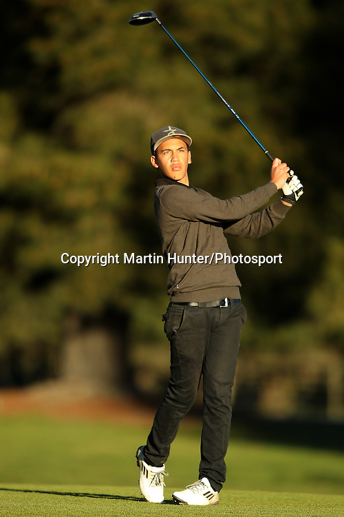 Tyson Tawera of St Johns College plays a fairway shot during the 2013 NZ Secondary Schools Golf Championship at Templeton Club, Christchurch, New Zealand. 2 September 2013. Photo: Martin Hunter/photosport.co.nz