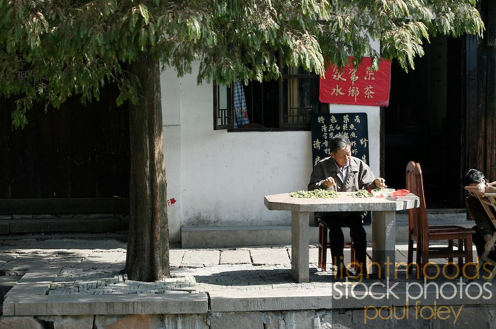 Food styles Jaingnan Ancient River Town, Shanghai - China