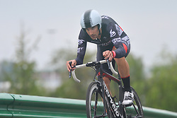 September 15, 2017 - Chenghu City, China - Joseph Cooper from Isowhey Sports Swisswellness team during the fourth stage of the 2017 Tour of China 1, the 3.3 km Chenghu Jintang individual time trial. .On Friday, 15 September 2017, in Jintang County, Chenghu City,  Sichuan Province, China. (Credit Image: © Artur Widak/NurPhoto via ZUMA Press)