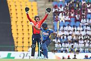 Jos Buttler (WK) big appeal during the One Day International match between Sri Lanka and England at Pallekele International Cricket Stadium, Pallekele, Sri Lanka on 20 October 2018.