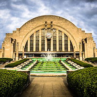 Photo of Cincinnati Museum Center in Cincinnati, Ohio. Cincinnati Museum Center.at Union Terminal is a Art Deco Historic Landmark that was originally the Cincinnati Union Terminal train station and was later converted into a museum.
