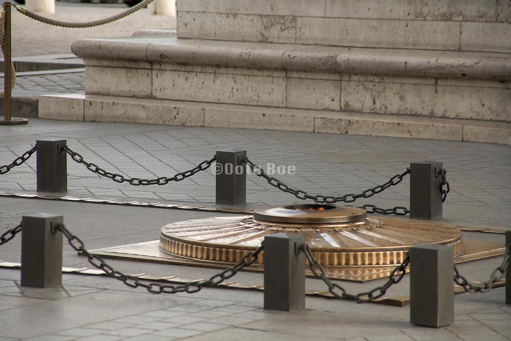 The Tomb of the Unknown Soldier ar Arc de Triomphe Paris France