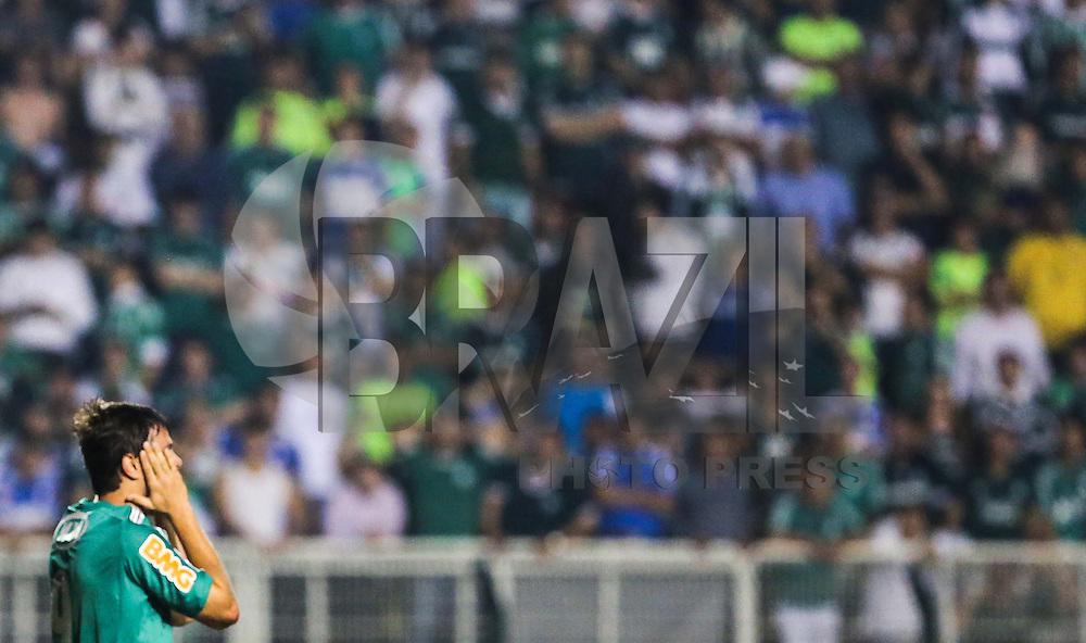 SAO PAULO, SP, 14 DE MAIO DE 2013 - LIBERTADORES - PALMEIRAS X TIJUANA - Kleber jogador do Palmeiras durante lance de partida contra o Tijuana (México) em partida válida pelo jogo de volta das oitavas de finais da Taça Libertadores da América, no Estádio Paulo Machado de Carvalho (Pacaembu), na noite desta terça-feira, 14. (FOTO: WILLIAM VOLCOV / BRAZIL PHOTO PRESS).