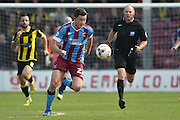 Tom Hopper of Scunthorpe United   during the Sky Bet League 1 match between Scunthorpe United and Burton Albion at Glanford Park, Scunthorpe, England on 9 April 2016. Photo by Ian Lyall.
