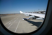 taxiing to the the terminal at Narita airport Japan