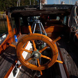 Steering Wheel on Orion at Jones Island State Park, San Juan Islands, Washington, US