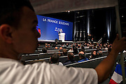Meeting du candidat a la presidentielle Francois Bayrou (MODEM) a Marseille le 15 avril 2012