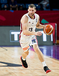 Janis Strelnieks of Latvia during basketball match between National Teams of Latvia and Montenegro at Day 11 in Round of 16 of the FIBA EuroBasket 2017 at Sinan Erdem Dome in Istanbul, Turkey on September 10, 2017. Photo by Vid Ponikvar / Sportida