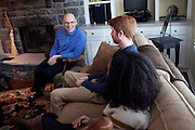 The dean of College of Arts and Sciences, Robert Frank, hosted a meet and greet with select Ohio University students at his home in Athens, Ohio on Sunday, February 24, 2013. Photo by Chris Franz College of Arts and Sciences Dean Robert Frank