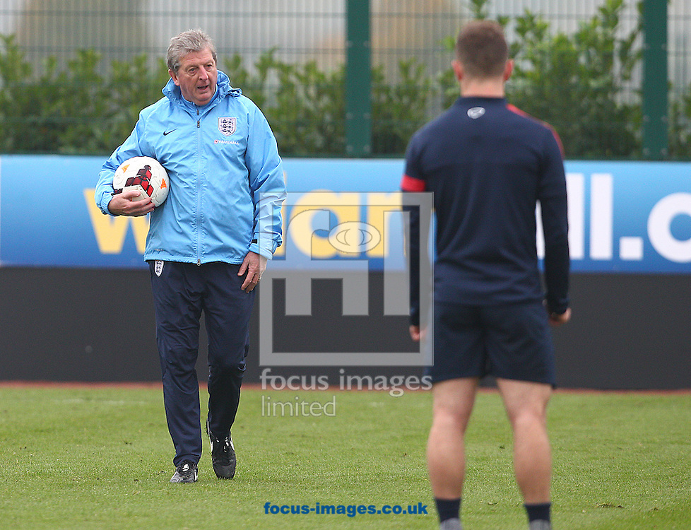 Picture by Paul Terry/Focus Images Ltd +44 7545 642257<br /> 18/11/2013<br /> Manager, Roy Hodgson pictured during England Training at London Colney, London.