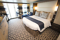 Royal Caribbean International launches Quantum of the Seas, the newest ship in the fleet, in November 2014<br /> <br /> Spa junior suite with balcony.
