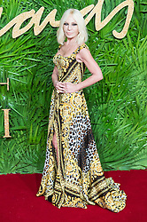 © Licensed to London News Pictures. 04/12/2017. London, UK. DONATELLA VERSACE arrives for The Fashion Awards 2017 held at the Royal Albert Hall. Photo credit: Ray Tang/LNP