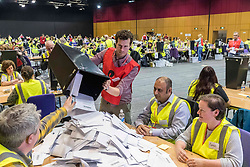 The counting of votes in the European Parliamentary Election for the City of Edinburgh counting area takes place at EICC, Morrison Street, Edinburgh.