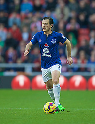 SUNDERLAND, ENGLAND - Sunday, November 9, 2014: Everton's Leighton Baines in action against Sunderland during the Premier League match at the Stadium of Light. (Pic by David Rawcliffe/Propaganda)