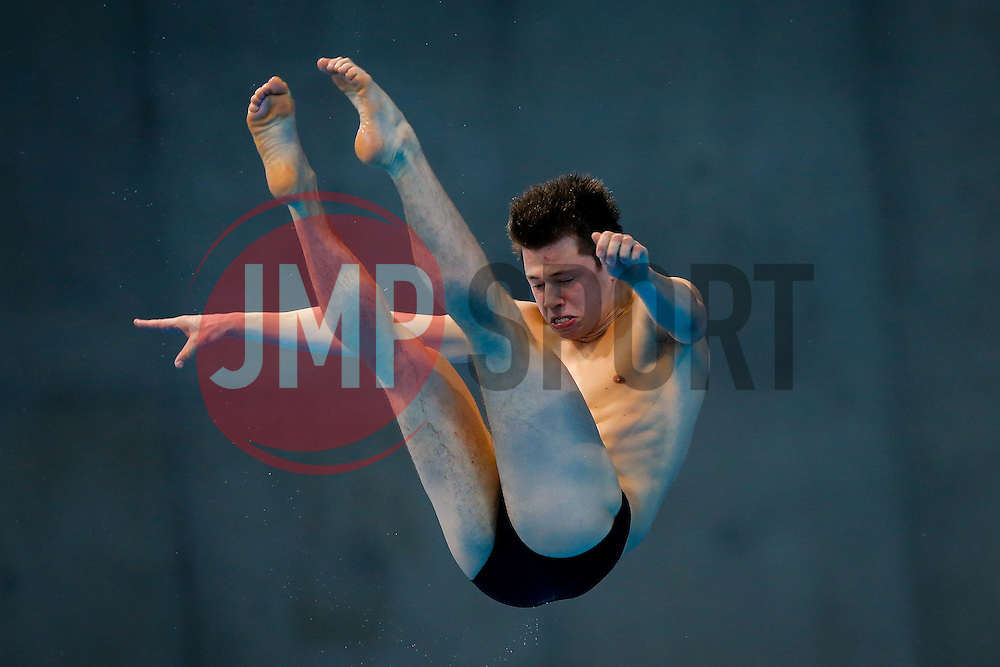 Freddie Woodward of Great Britain in action during the Mens 3m Springboard Preliminary - Mandatory byline: Rogan Thomson/JMP - 12/05/2016 - DIVING - London Aquatics Centre - Stratford, London, England - LEN European Aquatics Championships 2016 Day 4.